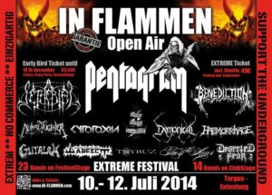 In Flammen Open Air 2014 - Stand Dez 2013