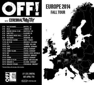 OFF! - Europe 2014 Fall Tour
