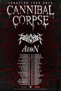 cannibale corpse europe tour herbst 2014