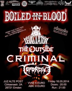 Boiled In Blood- Flyer Line Up 16.05.2014
