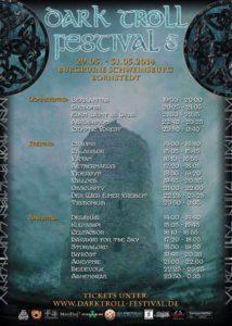 Dark Troll Festival 5 Running order 2014