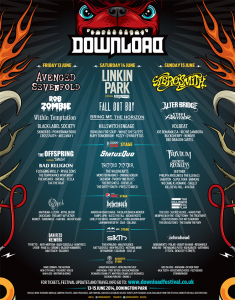 Download Festival 2014 Flyer 18.05
