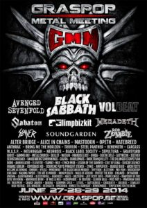 Graspop Metal Meeting 2014 Flyer Stand 25.05
