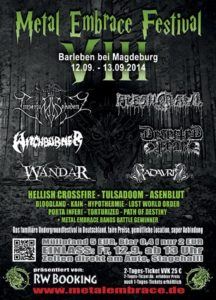Metal Embrace Festival 2014 Flyer Stand 06.05