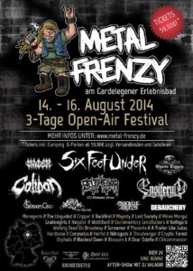 Metal Frenzy 2014 - Poster