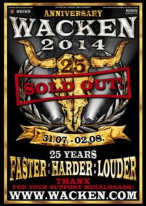 Wacken Open Air 2014 - Sold Out Poster