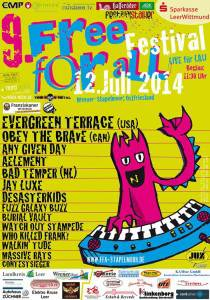 Free For All Festival 2014 Flyer Stand 16.06