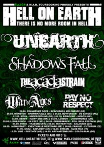 Hell On Earth Tour Plakat 2014 Stand 13.06.14