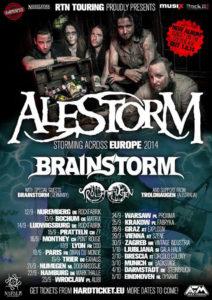 alestorm tour europ 2014 brainstorm