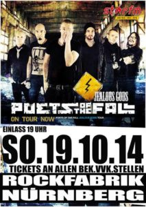 Poets Of The Fall 19.10.2014 Flyer