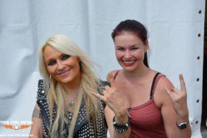 Doro Interview - Foto mit Doro Pesch und Petra D.