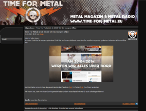 Time For Metal - Webpage Stand 2013