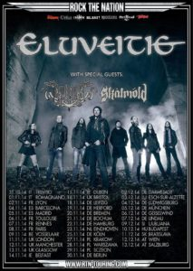 Eluveitie Origins Europe tour Poster