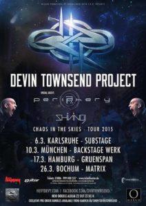 Devin Townsend Tour München 2015 Flyer
