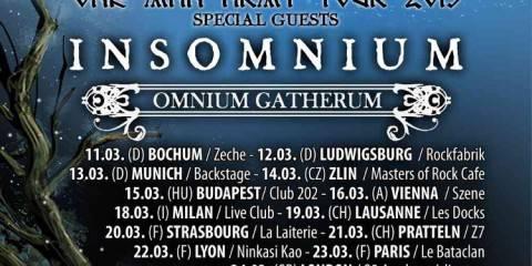 Ensiferum März 2015 Tour Flyer stand 29.03