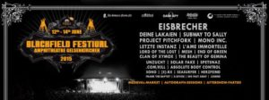 Blackfield Festival 2015 Flyer Stad 26.04