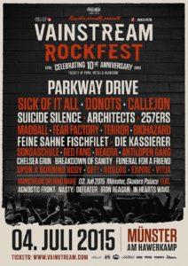 Festivalplakat Vainstream 2015