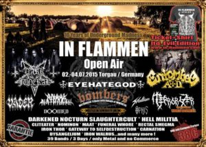 In Flammen Open Air 2015 Flyer Stand 17.05