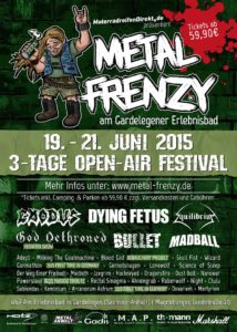 Metal Frenzy 2015 Stand 31.05 Flyer