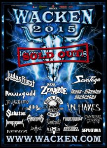 Wacken Open Air 2015 - Poster