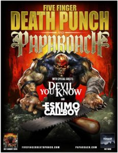 Five Finger Death Punch Tour 2015 Flyer stand 12.06