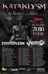 Kataklysm - Of Ghosts And Gods Tour 2016