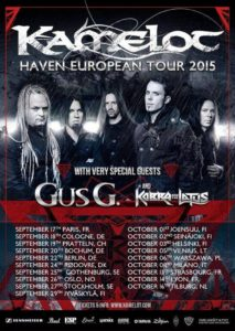 Kamelot - Tour Herbst 2015 Flyer
