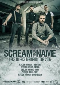 Scream your Name Tourplakat