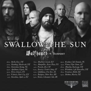 Swallow The Sun Wolfheart Tour Flyer
