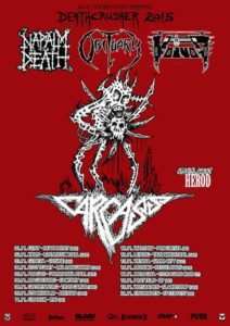 carcass death crusher 2015 tour flyer stand 09.09