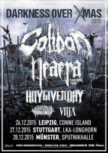 Caliban Dezember 2015 Tour Flyer