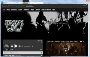 Ebony Wall - Webpagescreen