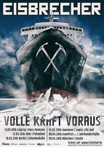 Eisbrecher Volle Kraft Voraus Tour Flyer 2016