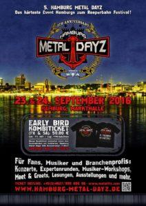 Hamburg Metal Dayz 2016 Poster Nov 15