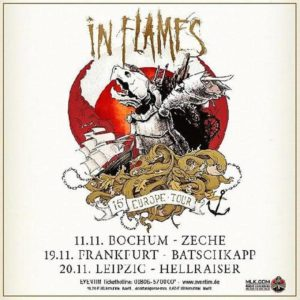 In Flames Tour 2015 Herbst Flyer Stand 17.11