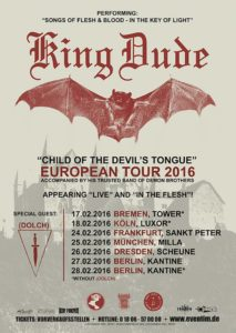 King Dude Tour 2016 Flyer
