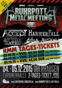 Ruhrpott Metal Metting Flyer Stand 16.11.15
