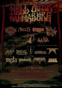Hell Over Hammaburg 2016 Flyer Stand 06.12.15