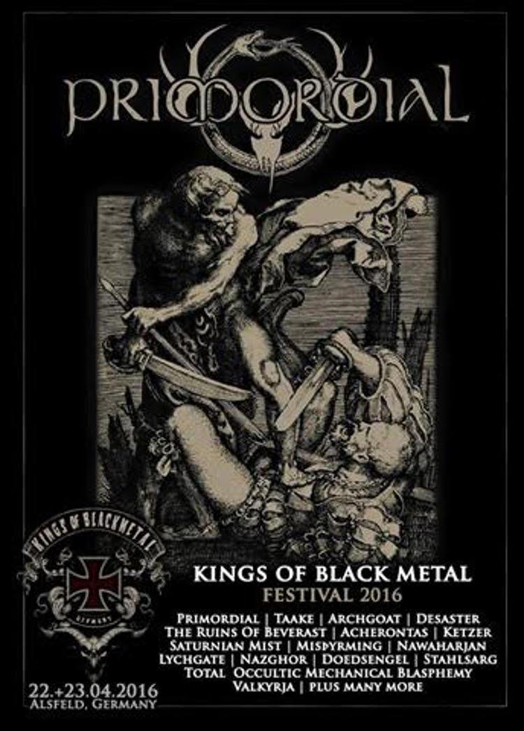 Primordial Spielen Auf Dem Kings Of Black Metal 2016