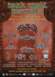 Darktroll Festival 2016 flyer stand 16.01