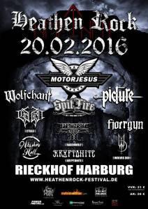 Heathen Rock Poster Januar 2016