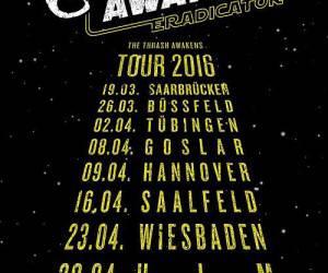 Godslave Tour Frühjhar 2016 Flyer