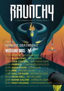Raunchy EU Tour 2016 Poster