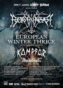 European Winter Thrice Tour 2016 - Konzertplakat