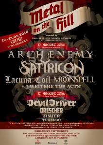 Metal On The Hill Poster März 2016