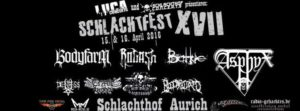 Schlachtfest 2016 April stand flyer 15.03