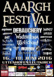 Aaargh Festival Poster 2016