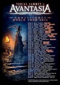 Avantasia World Tour Poster März 2016