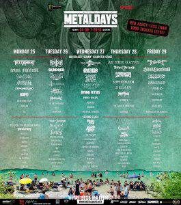Metal Days Running Order Stand 3005