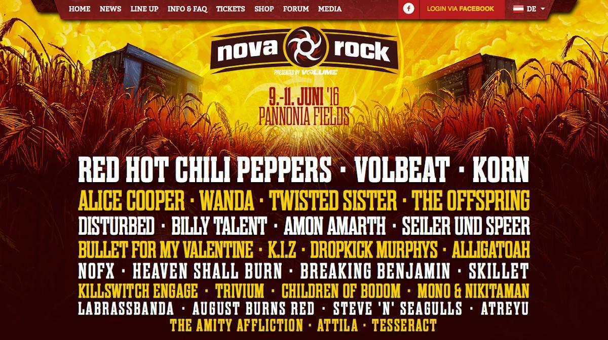 Nova Rock Vom 09062016 11062016 In Sterreich